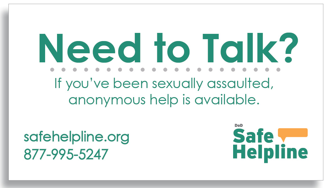 Safe Helpline Magnet what to do after sexual assault in the military, safe helpline sexual assault service members, safe helpline military bases, sexual assault military bases