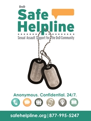 Safe Helpline Poster poster for military bases sexual assault information, military sexual assault confidential help poster