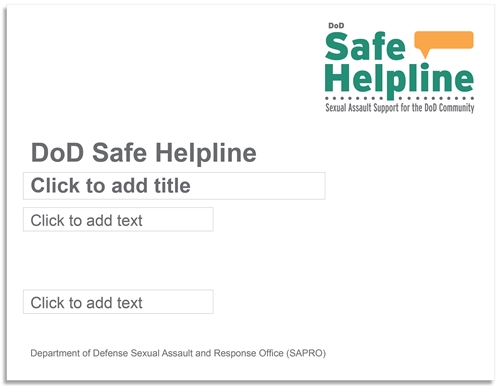 Safe Helpline PowerPoint Presentation