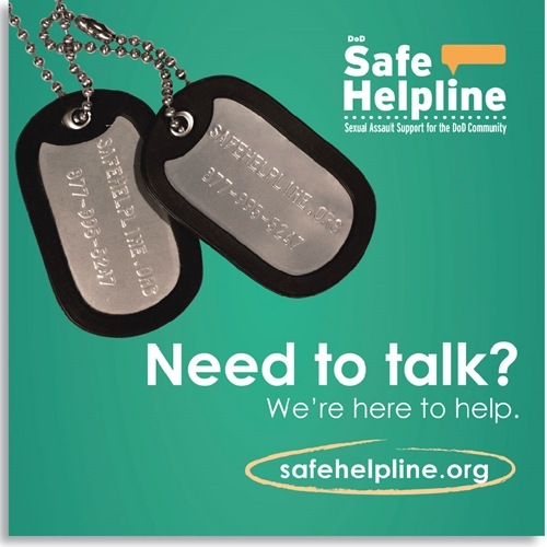 "Safe Helpline Square Web Banner - ""Need to talk"""