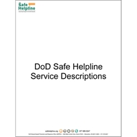About DoD Safe Helpline