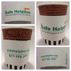 Safe Helpline Coffee Sleeves