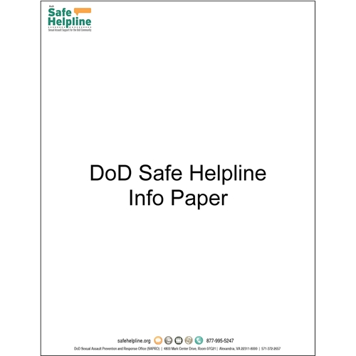 General Safe Helpline Info Paper