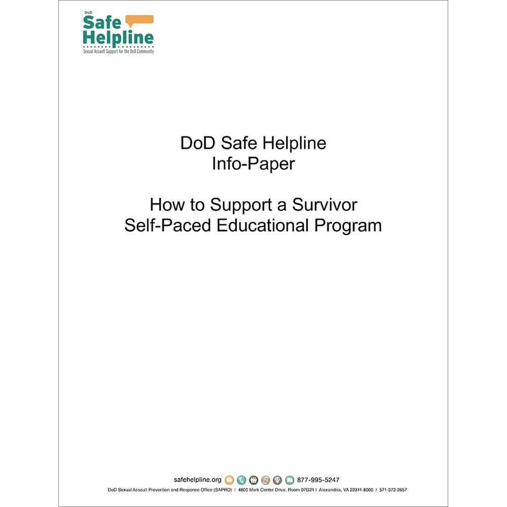 Safe Helpline 101 and How to Support a Survivor Social Media Outreach