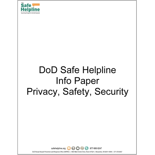 Safe Helpline Privacy, Safety, and Security Info Paper