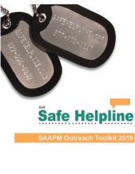 Safe Helpline Outreach Toolkit sexual assault information packet for military bases, dod sexual assault information toolkit, military sexual assault survivor help toolkit for bases, talking points for sexual assault, sample social media posts for sexual assault help safe helpline military bases
