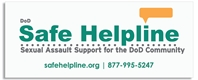 Safe Helpline Rectangular Web Banner (Logo) web link safe helpline, website banner safe helpline, sexual assault support banner for dod