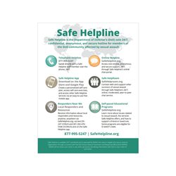 Safe Helpline One-Pagers